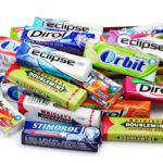 A pile of some of today's most popular gum products like Orbit, Doublemint, and Dirol.